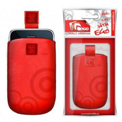 Pochette EGO rouge CIRCLE universelle pour telephones et lecteurs mp3