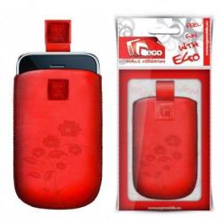 Pochette FLOWER rouge universelle pour telephones et lecteurs mp3