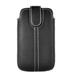 Etui cuir noir pour iphone 3g, 3gs, 4 et ipod