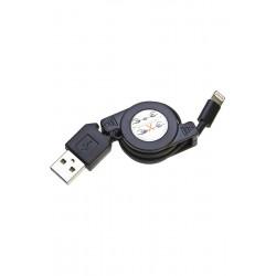 Câble rétractable USB LIGHTNING pour Iphone, ipod touch et iPad