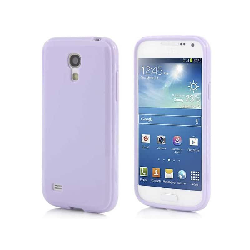 Coque SILICONE mauve pour Samsung Galaxy S4 mini GT-I9195X