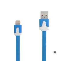 Câble 1 metre LUXE USB LIGHTNING bleu pour Iphone 5, 5C, 5S, 6, 6+, Ipad 4 , ipad air, Ipod touch 5 et nano 7.