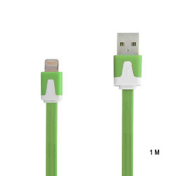 Câble 1 metre LUXE USB LIGHTNING vert pour Iphone 5, 5C, 5S, Ipad 4 Ipod touch 5 et nano 7.
