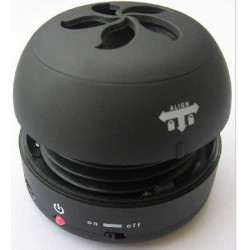 Mini haut-parleur portable hamburger noir pour ordinateur laptop MP3 MP4 iPod iPhone