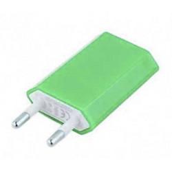 Mini chargeur vert secteur 220V pour téléphones, tablettes ou lecteurs MP3