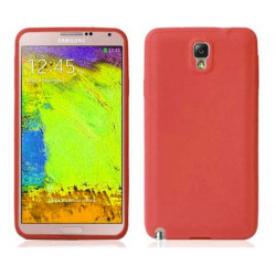 Coque SILICONE rouge pour SAMSUNG GALAXY NOTE 3
