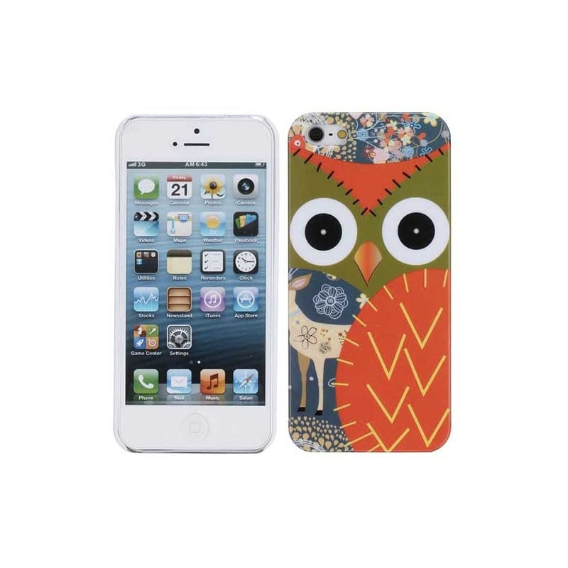 coque hibou pour iphone 5 5s se. Black Bedroom Furniture Sets. Home Design Ideas