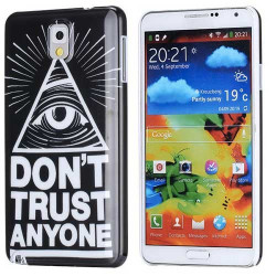 Coque DON T TRUST pour SAMSUNG GALAXY NOTE 3