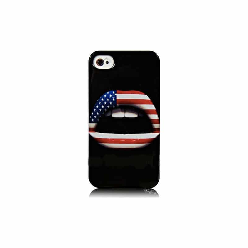 coque levres usa pour iphone 4 et 4s. Black Bedroom Furniture Sets. Home Design Ideas
