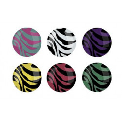 Bouton sticker zebre