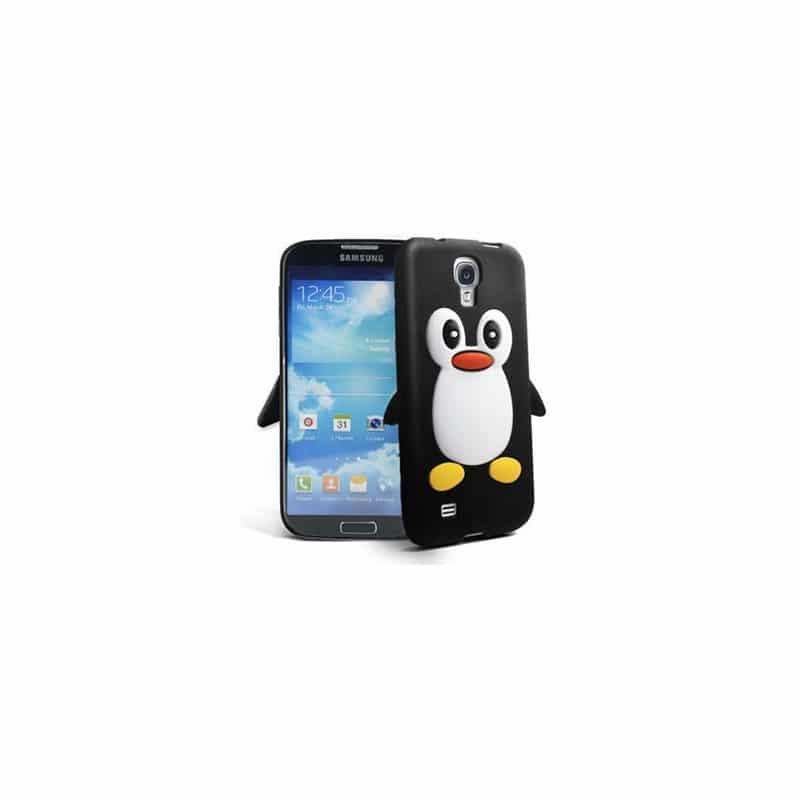 Coque PINGOUIN noire pour Samsung Galaxy S4 mini GT-I9195X