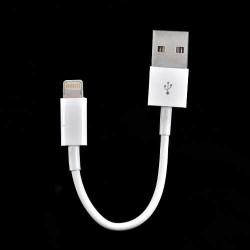 Mini Câble USB LIGHTNING pour Iphone 5, 5C, 5S, 6, 6+, Ipad 4 Ipod touch 5 et nano 7.