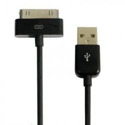 Câble USB noir pour Iphone, Ipad et Ipod .