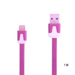 Câble 1 metre LUXE USB LIGHTNING rose pour Iphone 5, 5C, 5S, 6, 6+, Ipad 4 Ipod touch 5 et nano 7.