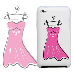 Coque PETITE ROBE ROSE pour iPod Touch 4