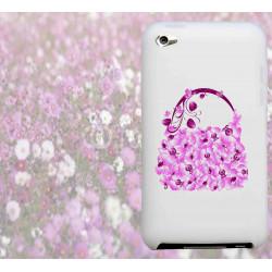Coque SAC A MAIN FLEURS pour iPod Touch 4