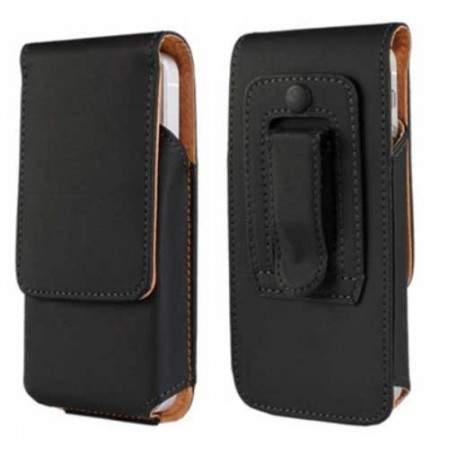etui rabattable ceinture vertical noir pour iphone 5 5c et 5s. Black Bedroom Furniture Sets. Home Design Ideas