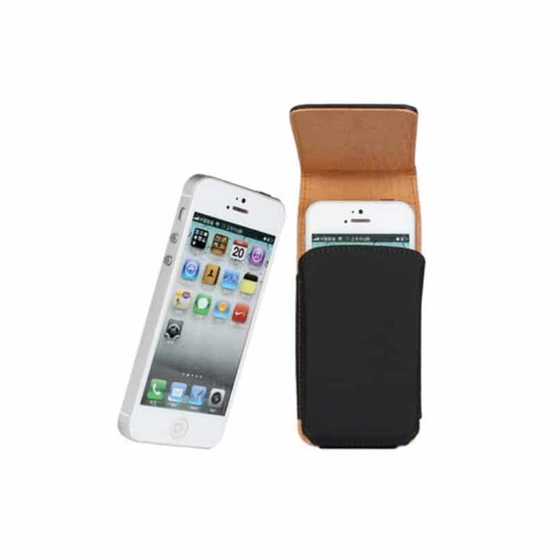 ... Etui cuir CEINTURE vertical noir pour iPhone 5, 5C et 5S ... fba239ef24f