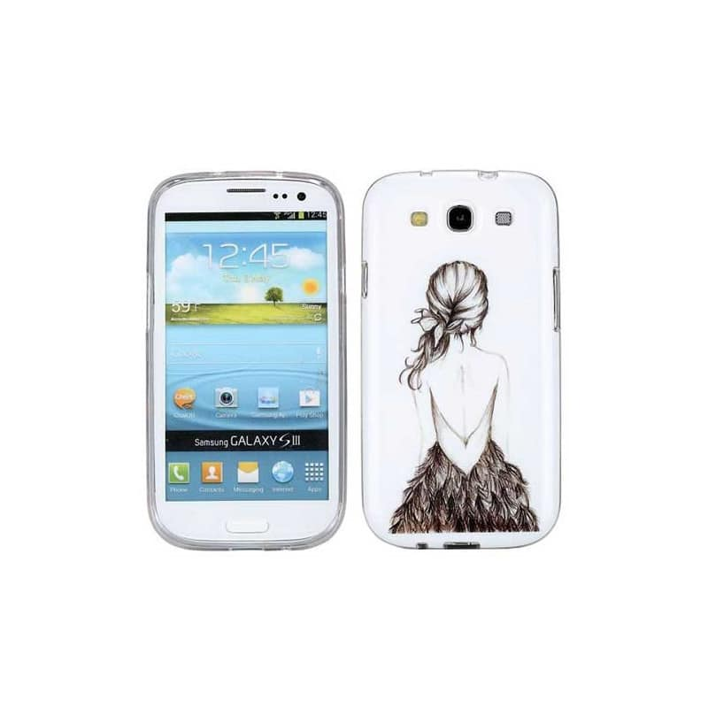 coque beauty girl pour samsung galaxy s3. Black Bedroom Furniture Sets. Home Design Ideas