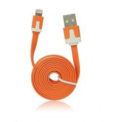 Câble LUXE USB LIGHTNING orange pour Iphone 5, 5C, 5S,6, 6+, Ipad 4 Ipod touch 5 et nano 7