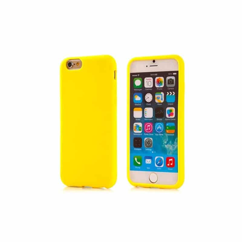 coque jaune souple en silicone pour iphone 6 4 7. Black Bedroom Furniture Sets. Home Design Ideas