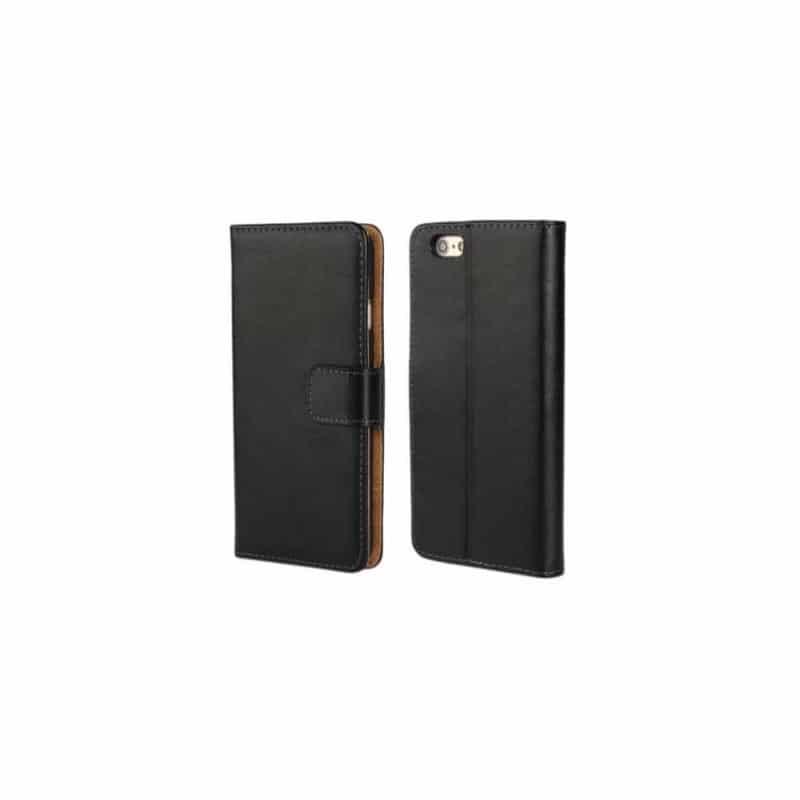 etui rabattable noir portefeuille pour iphone 6 4 7. Black Bedroom Furniture Sets. Home Design Ideas