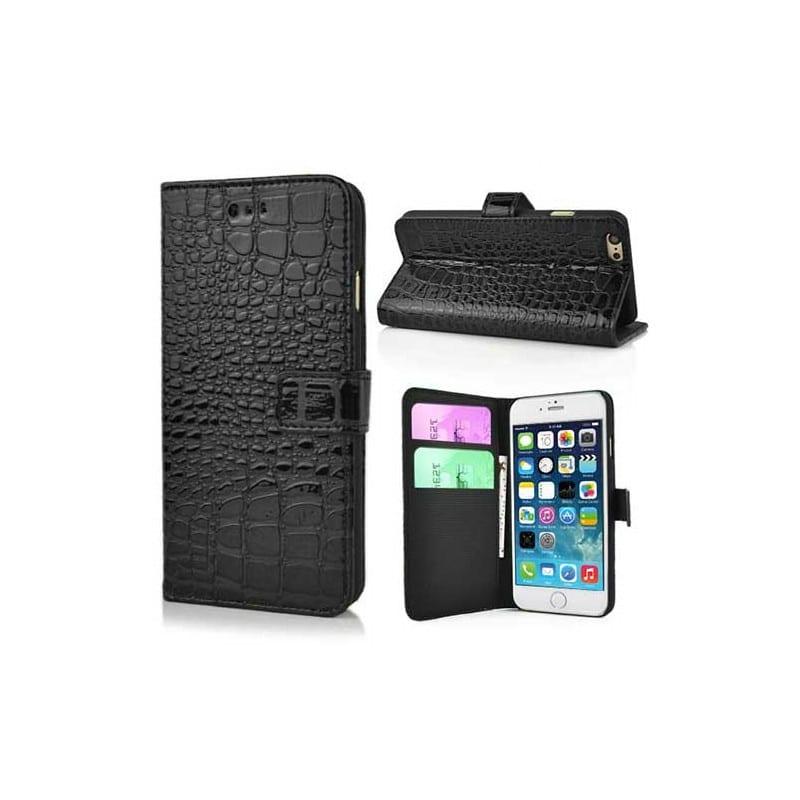 etui rabattable portefeuille crocodile pour iphone 6 4 7. Black Bedroom Furniture Sets. Home Design Ideas