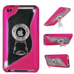 """Coque """" STYLISH TV """" rose pour IPOD TOUCH 4"""