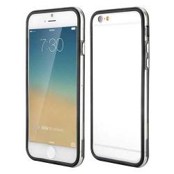 BUMPER LUXE transparent noir pour iPhone 6 et 6S (4.7)