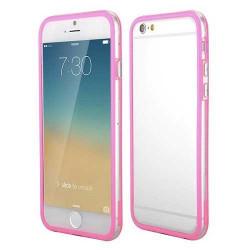 BUMPER LUXE transparent rose pour iPhone 6 et 6S ( 4.7 )