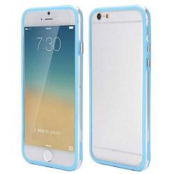 BUMPER LUXE transparent bleu pour iPhone 6 et 6S ( 4.7 )