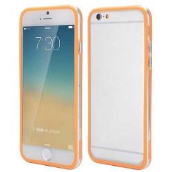 BUMPER LUXE transparent orange pour iPhone 6 et 6S ( 4.7 )