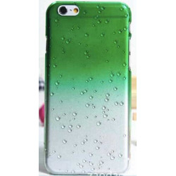 Coque CRYSTAL WATER verte transparente pour iPhone 6 ( 4.7 )