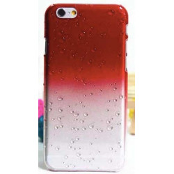 Coque CRYSTAL WATER rouge transparente pour iPhone 6 ( 4.7 )