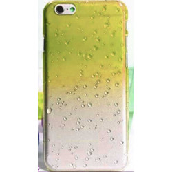 Coque CRYSTAL WATER jaune transparente pour iPhone 6 ( 4.7 )