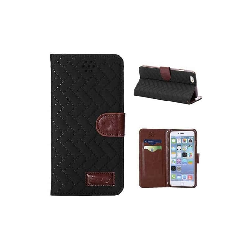 Etui cuir portefeuille deluxe pour iphone 6 plus 5 5 for Etui iphone 6 portefeuille