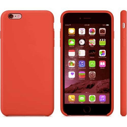 Coque silicone rouge pour iPhone 6 + ( 5.5 )