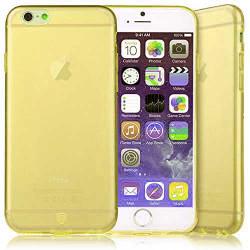 Coque CRYSTAL semi rigide jaune pour iPhone 6 plus ( 5.5 )