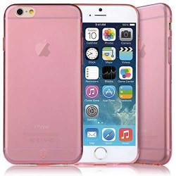 Coque CRYSTAL semi rigide rose pour iPhone 6 plus ( 5.5 )