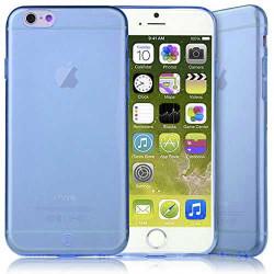 Coque CRYSTAL semi rigide bleue pour iPhone 6 plus ( 5.5 )