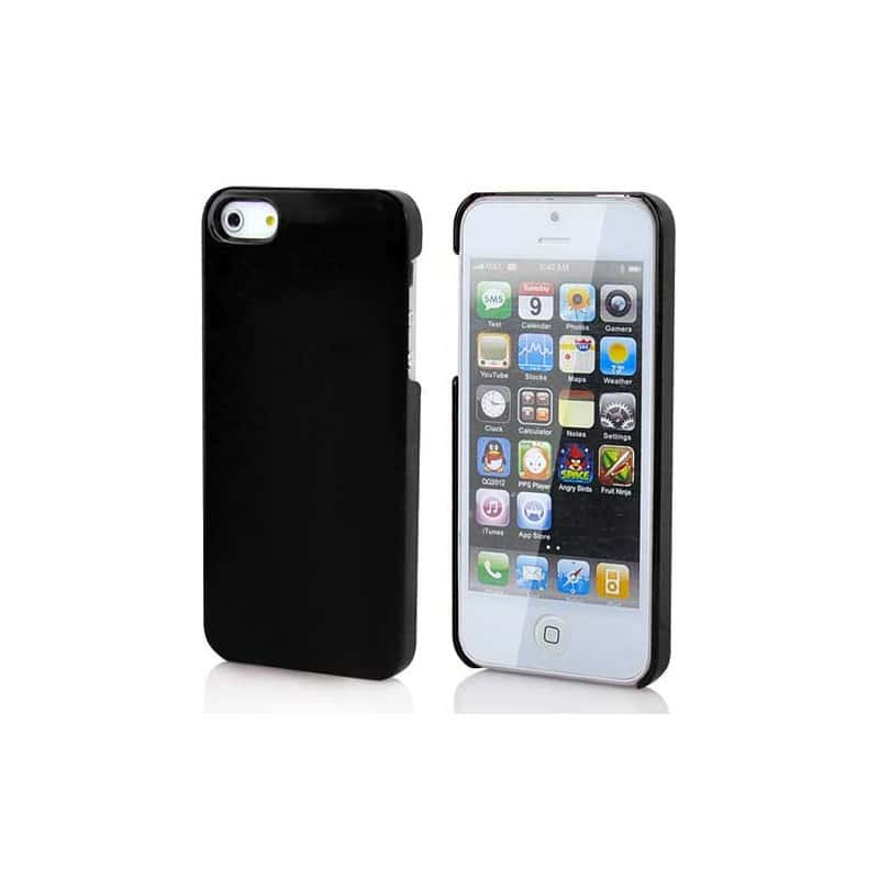 coque rigide noire pour iphone 5 et 5s. Black Bedroom Furniture Sets. Home Design Ideas