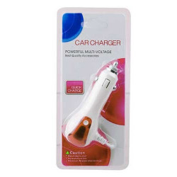 Chargeur DELUXE rose 12 volts allume cigare pour Iphone 5, 5S, 5C, 6, 6+,  iPod touch 5, Ipad 4 et iPad mini + USB 1A