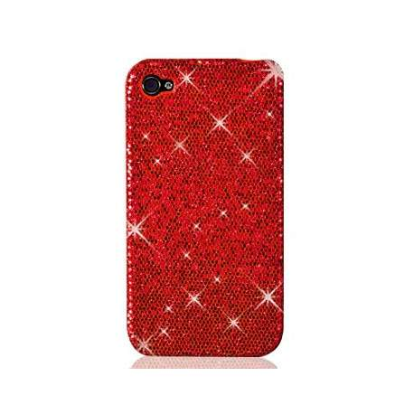 Coque disco rouge pour iphone 4