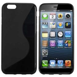 Coque souple S-LINE noire pour iPhone 6 + et iPhone 6+S
