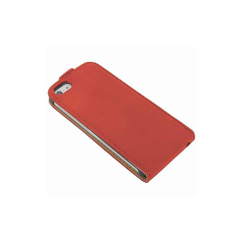 etui rabattable2 rouge pour iphone 5 et 5s. Black Bedroom Furniture Sets. Home Design Ideas
