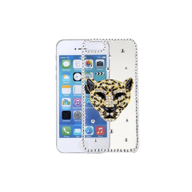 coque strass guepard pour iphone 5 5s se. Black Bedroom Furniture Sets. Home Design Ideas