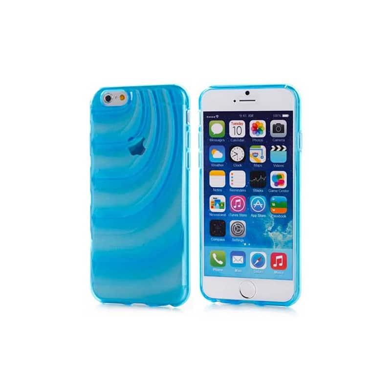 coque souple wave bleue pour iphone 6 4 7. Black Bedroom Furniture Sets. Home Design Ideas