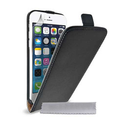 Etui cuir noir pour iPhone 6 ( 4.7 )