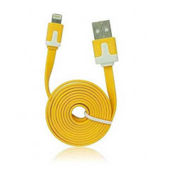Câble LUXE USB LIGHTNING jaune pour Iphone 5, 5C, 5S,6, 6+, Ipad 4 Ipod touch 5 et nano 7