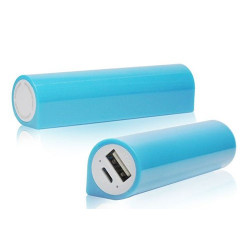 Batterie bleue POWER BANK 3000mAh pour telephones et MP3